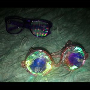 Kaleidoscope and Diffraction Glasses